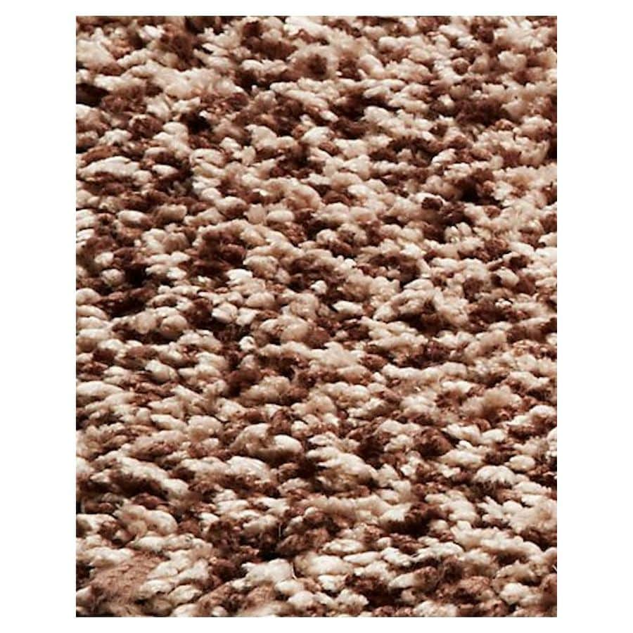 KAS Rugs Sofia Shag Brown Rectangular Indoor Shag Runner (Common: 2 x 8; Actual: 27-ft W x 90-ft L)