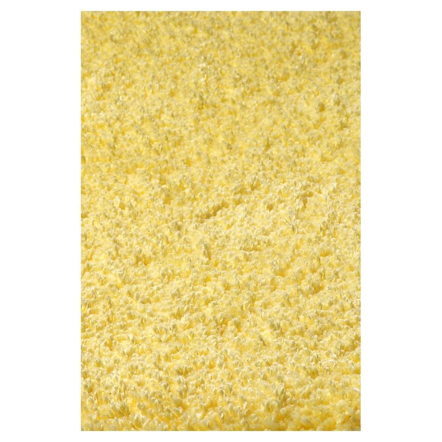 KAS Rugs Sofia Shag Yellow Rectangular Indoor Shag Area Rug (Common: 5 x 7; Actual: 60-ft W x 84-ft L)