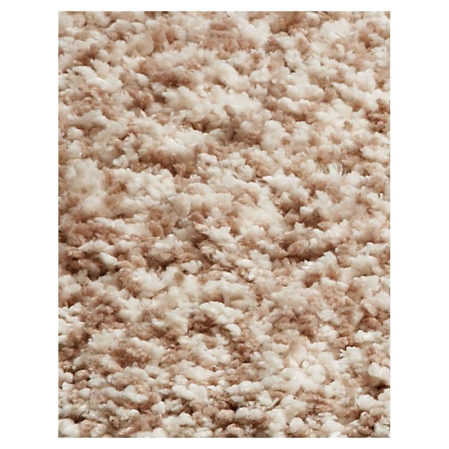 KAS Rugs Sofia Shag Cream/Beige/Almond Rectangular Indoor Machine-made Area Rug (Common: 5 x 7; Actual: 5-ft W x 7-ft L)