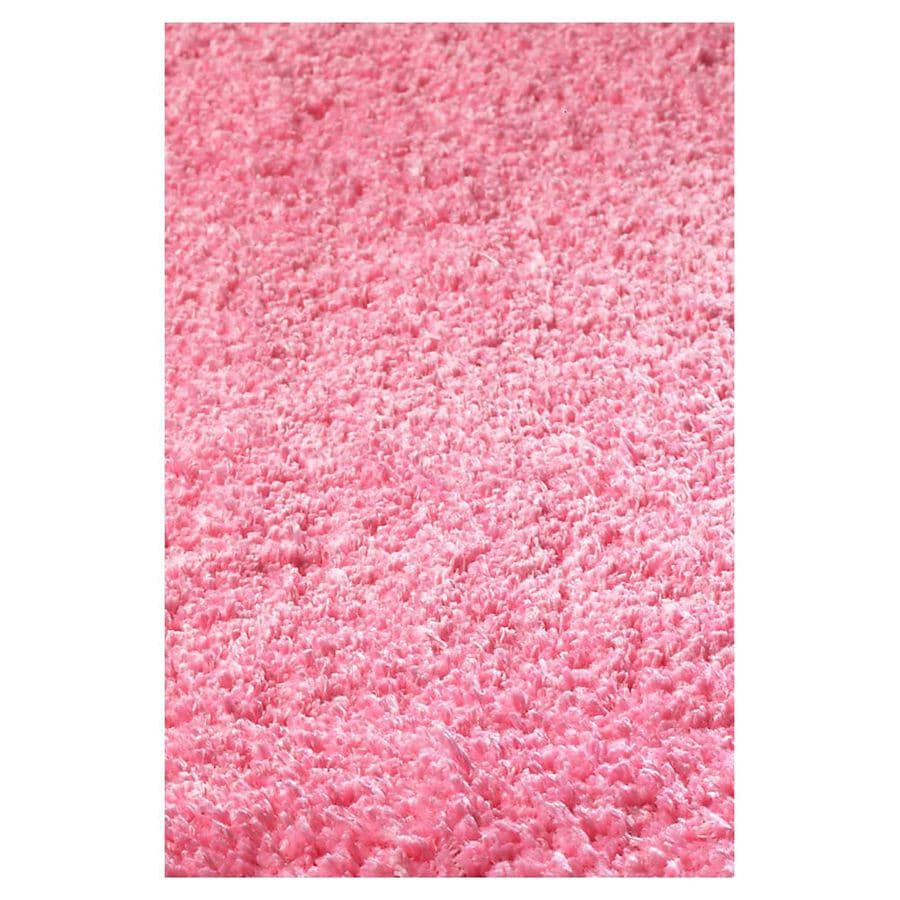KAS Rugs Sofia Shag Pink Rectangular Indoor Machine-Made Area Rug (Common: 8 x 10; Actual: 7.50-ft W x 8.50-ft L)