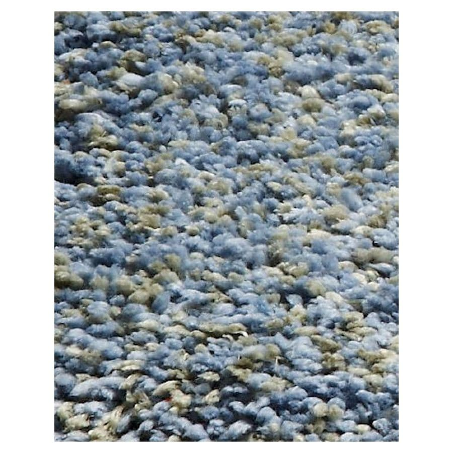 KAS Rugs Sofia Shag Blue Rectangular Indoor Machine-Made Area Rug (Common: 8 x 10; Actual: 7.50-ft W x 8.50-ft L)