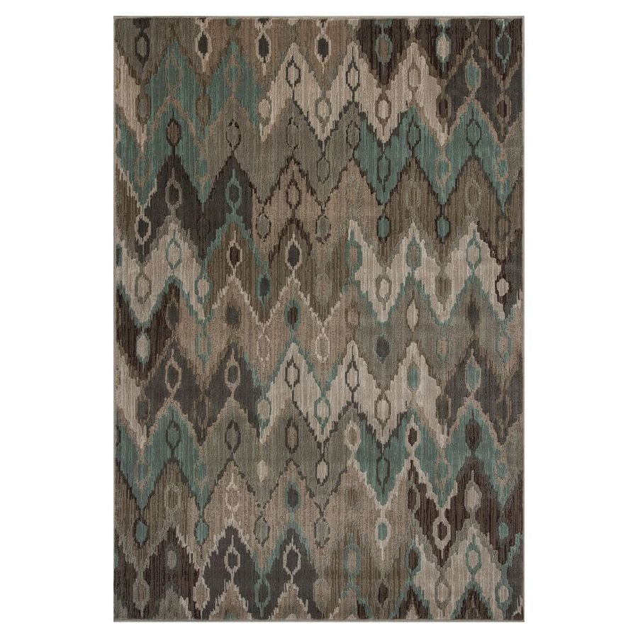 KAS Rugs Trendy Chic Brown Rectangular Indoor Woven Area Rug (Common: 5 x 8; Actual: 63-ft W x 92-ft L)