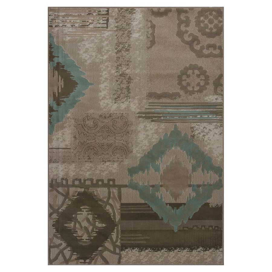KAS Rugs Trendy Chic Gray Rectangular Indoor Woven Area Rug (Common: 5 x 8; Actual: 63-in W x 92-in L x 0-ft Dia)