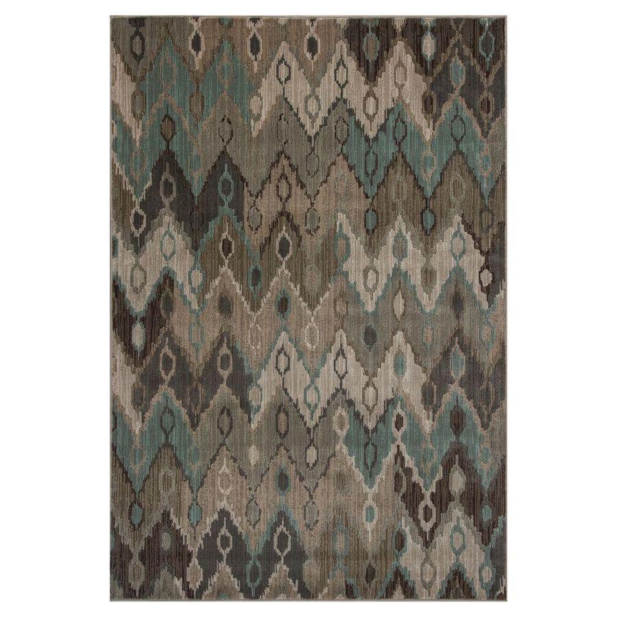 KAS Rugs Trendy Chic Brown Rectangular Indoor Woven Area Rug (Common: 8 x 11; Actual: 91-ft W x 130-ft L)