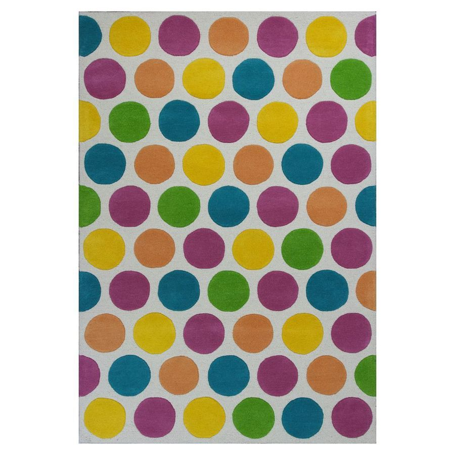 KAS Rugs Playful Patterns Multicolor Rectangular Indoor Tufted Area Rug (Common: 5 x 7; Actual: 60-in W x 90-in L)