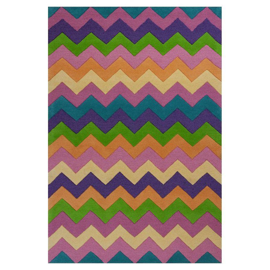 KAS Rugs Playful Patterns Multicolor Rectangular Indoor Tufted Area Rug