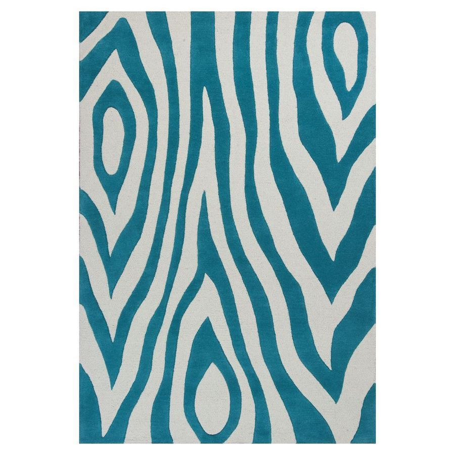 KAS Rugs Playful Patterns Blue Rectangular Indoor Tufted Area Rug (Common: 8 x 10; Actual: 90-in W x 114-in L)