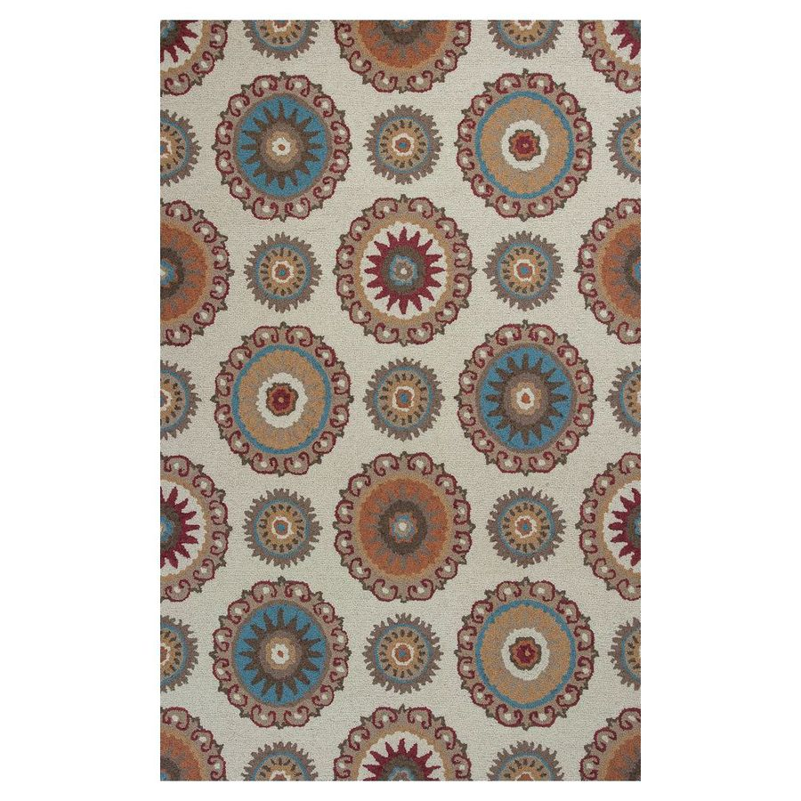 KAS Rugs Everday Rectangular Indoor Hand-Hooked Throw Rug