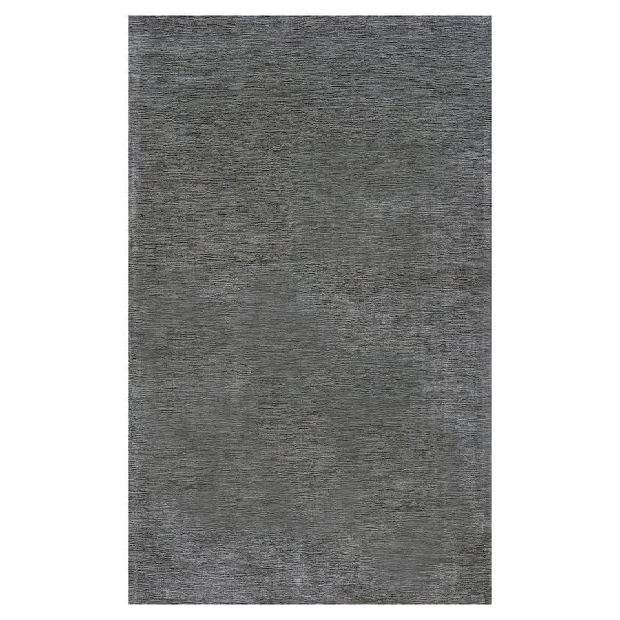 KAS Rugs Tonal Elegance Gray Rectangular Indoor Tufted Throw Rug (Common: 3 x 5; Actual: 39-ft W x 63-ft L)