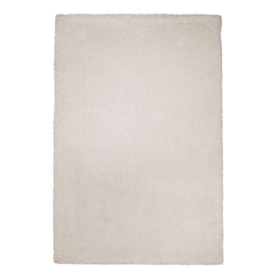 KAS Rugs Sofia Shag Ivory Rectangular Indoor Shag Throw Rug (Common: 3 x 5; Actual: 39-in W x 63-in L x 0-ft Dia)