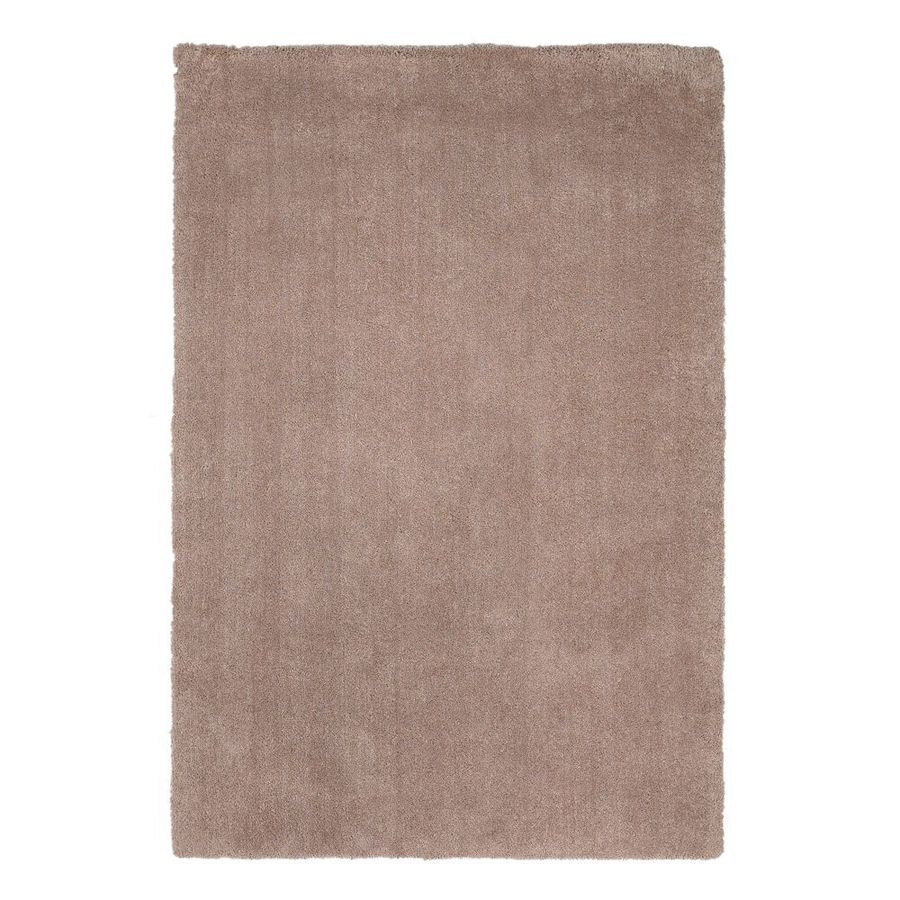 KAS Rugs Sofia Shag Beige Rectangular Indoor Machine-Made Throw Rug (Common: 3 x 5; Actual: 3.25-ft W x 5.25-ft L)