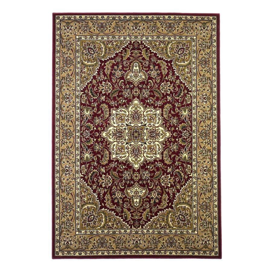 KAS Rugs Medallion Red Rectangular Indoor Woven Oriental Area Rug (Common: 5 x 8; Actual: 63-in W x 91-in L x 0-ft Dia)