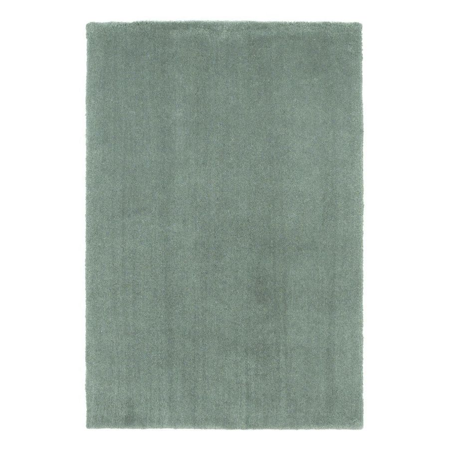 KAS Rugs Sofia Shag Slate Rectangular Indoor Machine-Made Throw Rug (Common: 3 x 5; Actual: 3.25-ft W x 5.25-ft L)