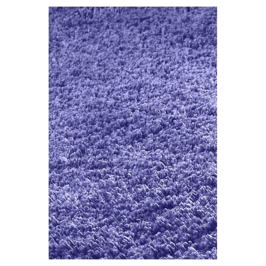 KAS Rugs Sofia Shag Purple Rectangular Indoor Machine-Made Throw Rug (Common: 3 x 5; Actual: 3.25-ft W x 5.25-ft L)