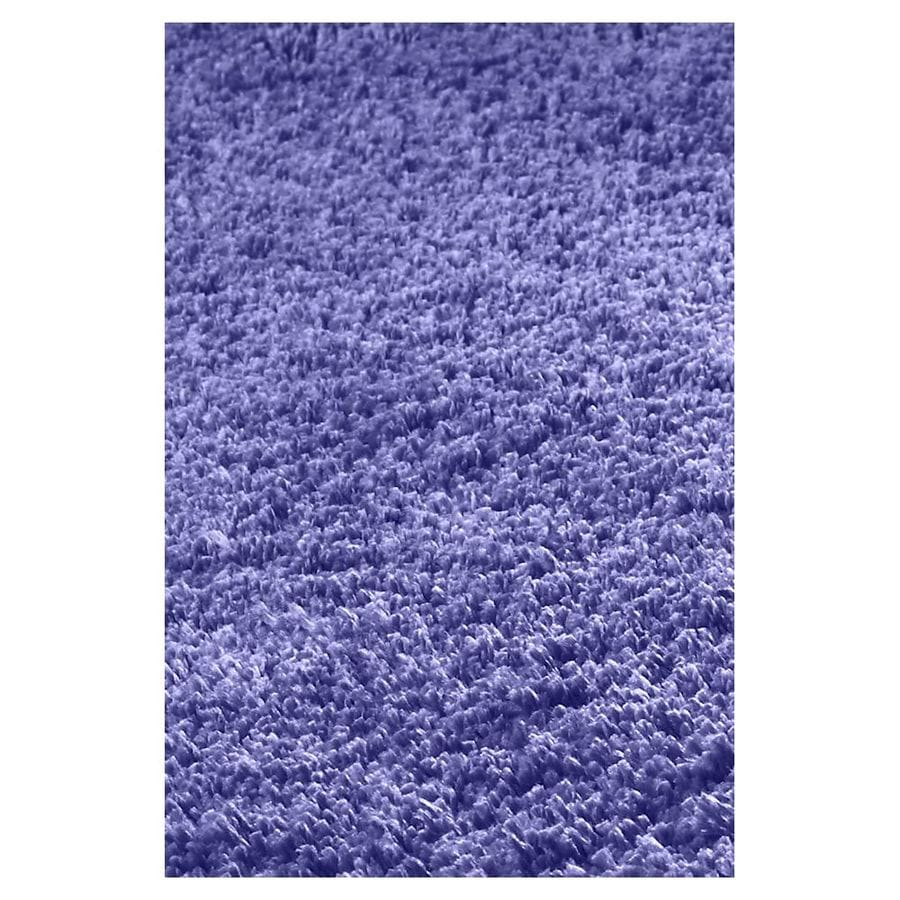 KAS Rugs Sofia Shag Purple Rectangular Indoor Shag Area Rug (Common: 8 x 11; Actual: 96-in W x 132-in L x 0-ft Dia)