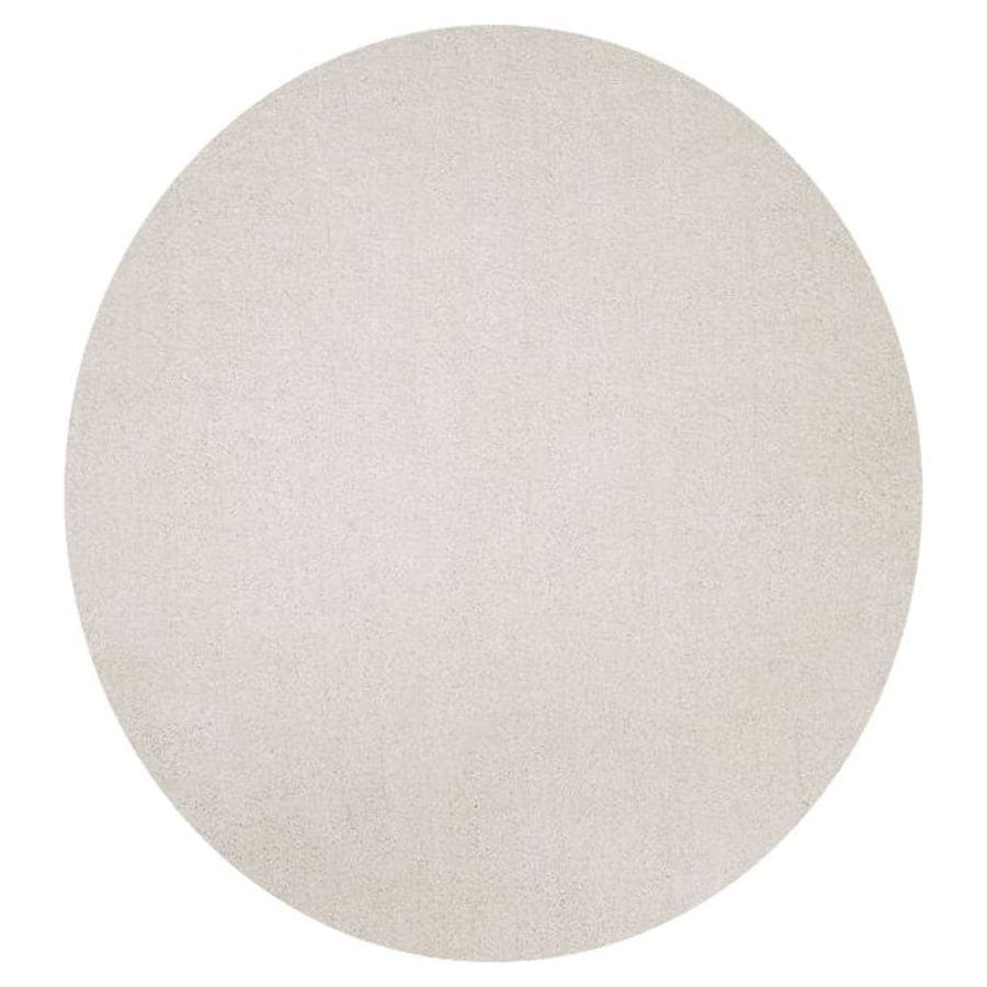 KAS Rugs Sofia Shag Ivory Round Indoor Machine-Made Area Rug (Common: 8 x 8; Actual: 8-ft W x 8-ft L x 8-ft dia)