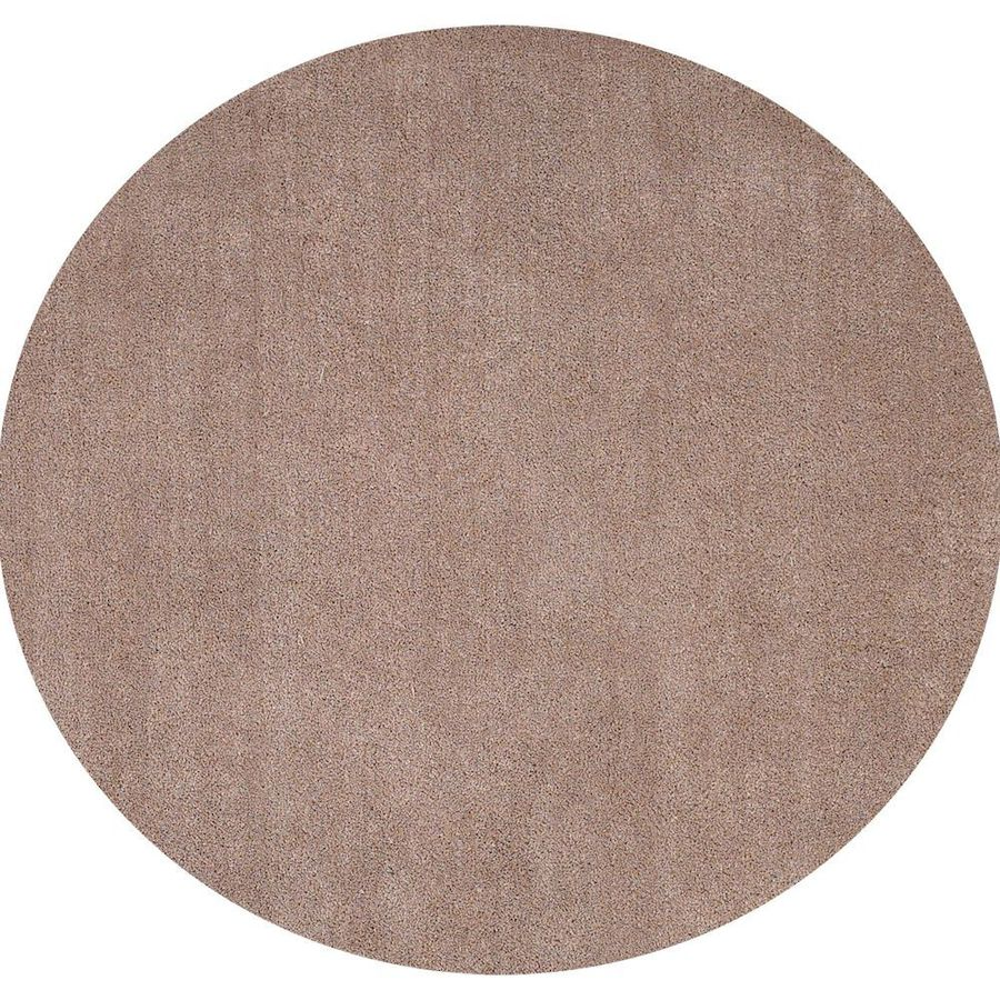 KAS Rugs Sofia Shag Cream/Beige/Almond Round Indoor Machine-Made Area Rug (Common: 8 x 8; Actual: 8-ft W x 8-ft L x 8-ft dia)