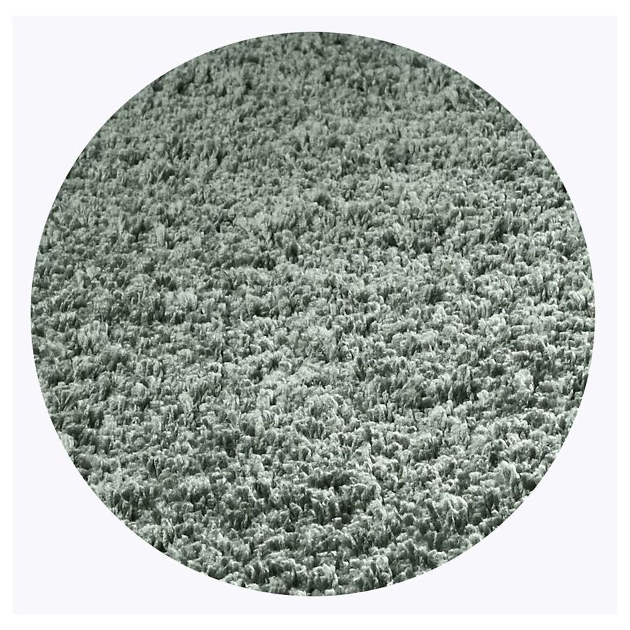 KAS Rugs Sofia Shag Slate Round Indoor Shag Area Rug (Common: 8 x 8; Actual: 96-ft W x 96-ft L x 8-ft Dia)