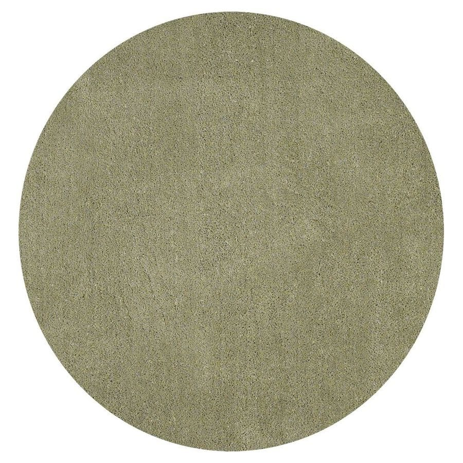 KAS Rugs Sofia Shag Sage Round Indoor Machine-Made Area Rug (Common: 8 x 8; Actual: 8-ft W x 8-ft L x 8-ft dia)