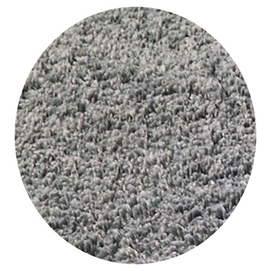 KAS Rugs Sofia Shag Grey Round Indoor Machine-Made Area Rug (Common: 8 x 8; Actual: 8-ft W x 8-ft L x 8-ft dia)