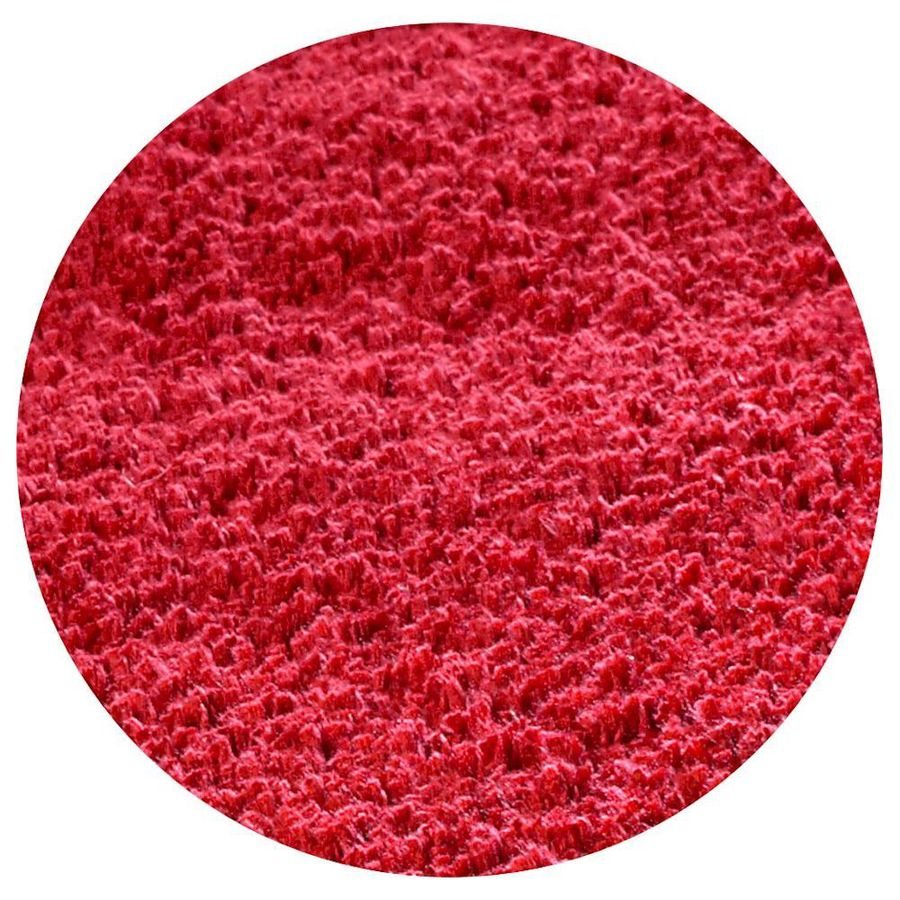 KAS Rugs Sofia Shag Red Round Indoor Shag Area Rug (Common: 8 x 8; Actual: 96-ft W x 96-ft L x 8-ft Dia)