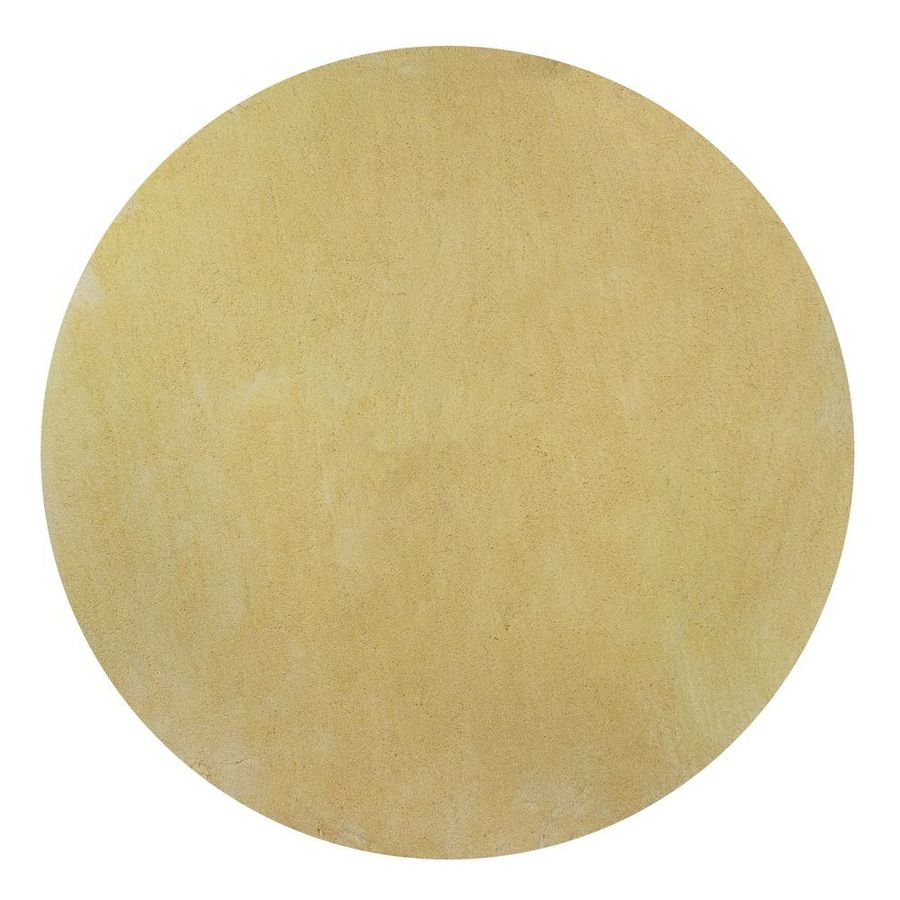 KAS Rugs Sofia Shag Yellow Round Indoor Shag Area Rug (Common: 8 x 8; Actual: 96-in W x 96-in L x 8-ft Dia)