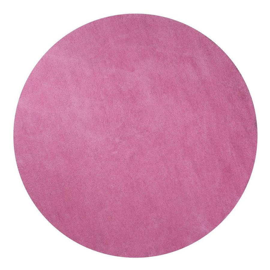KAS Rugs Sofia Shag Red/Pink Round Indoor Machine-Made Area Rug (Common: 8 x 8; Actual: 8-ft W x 8-ft L x 8-ft dia)