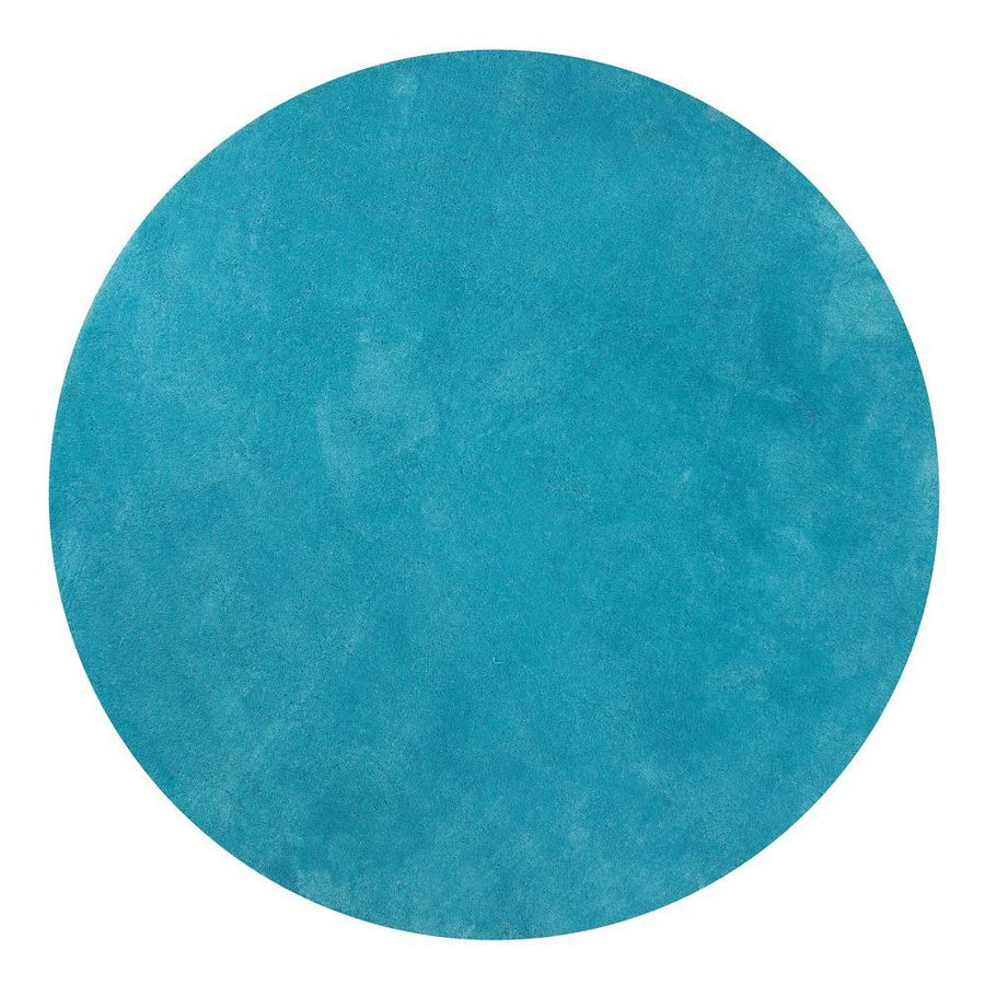 KAS Rugs Sofia Shag Blue Round Indoor Machine-Made Area Rug (Common: 8 x 8; Actual: 8-ft W x 8-ft L x 8-ft dia)