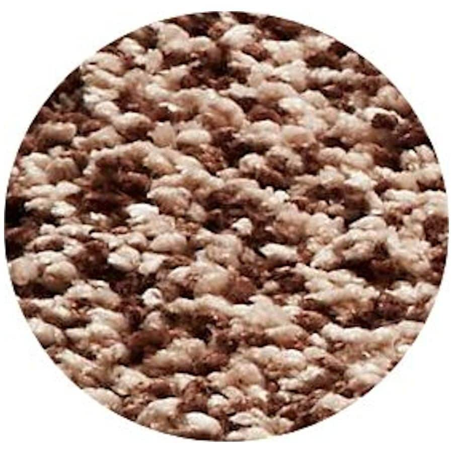 KAS Rugs Sofia Shag Brown Round Indoor Machine-Made Area Rug (Common: 8 x 8; Actual: 8-ft W x 8-ft L x 8-ft dia)