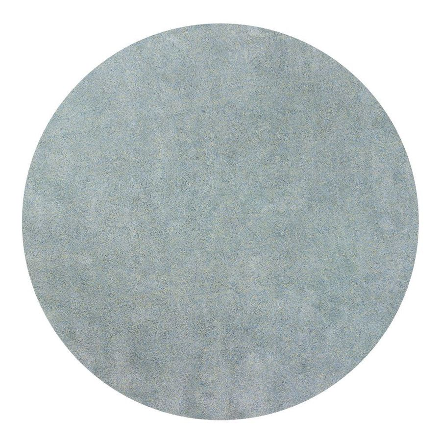 KAS Rugs Sofia Shag Blue Heather Round Indoor Shag Area Rug (Common: 8 x 8; Actual: 96-ft W x 96-ft L x 8-ft Dia)