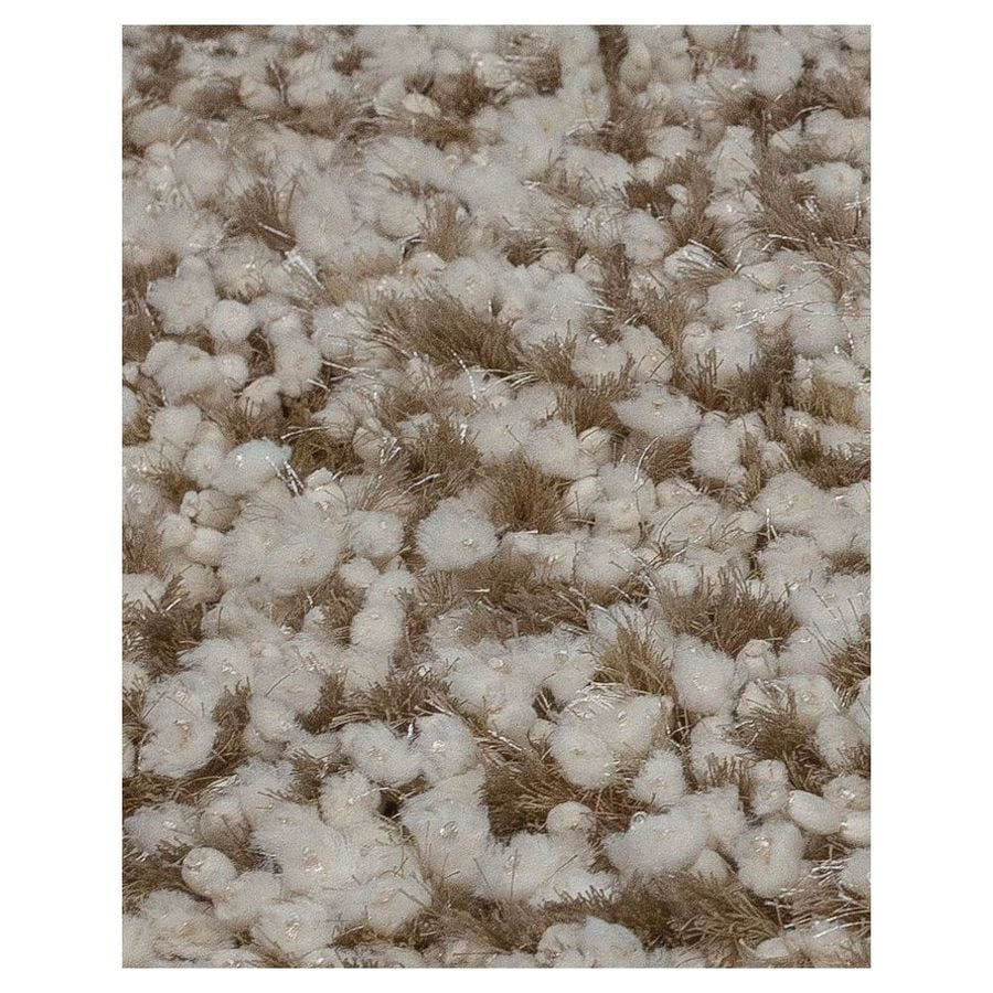 KAS Rugs Classy Shag Beige Rectangular Indoor Shag Area Rug (Common: 8 x 10; Actual: 96-in W x 120-in L)