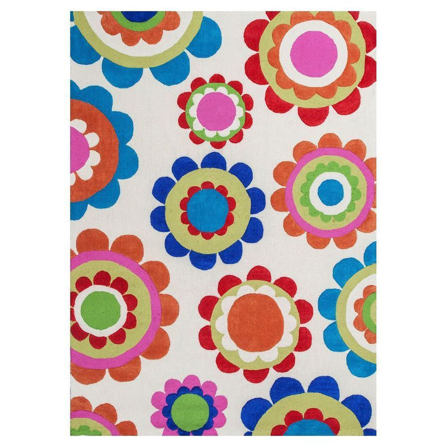 KAS Rugs Playful Patterns Rectangular Indoor Tufted Throw Rug
