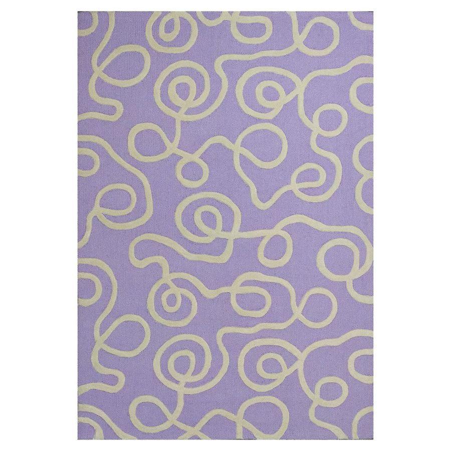 KAS Rugs Playful Patterns Purple Rectangular Indoor Tufted Area Rug