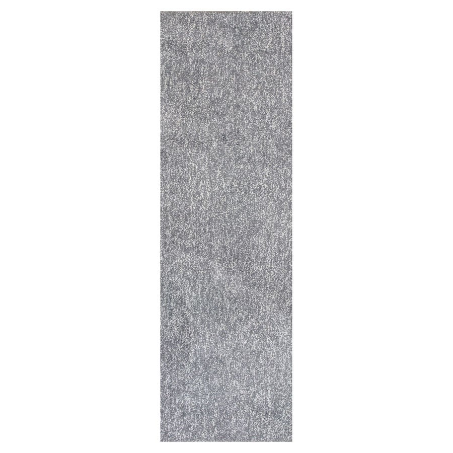 KAS Rugs Sofia Shag Gray/Ivory Rectangular Indoor Machine-Made Runner (Common: 2 x 7; Actual: 2.25-ft W x 7.50-ft L)