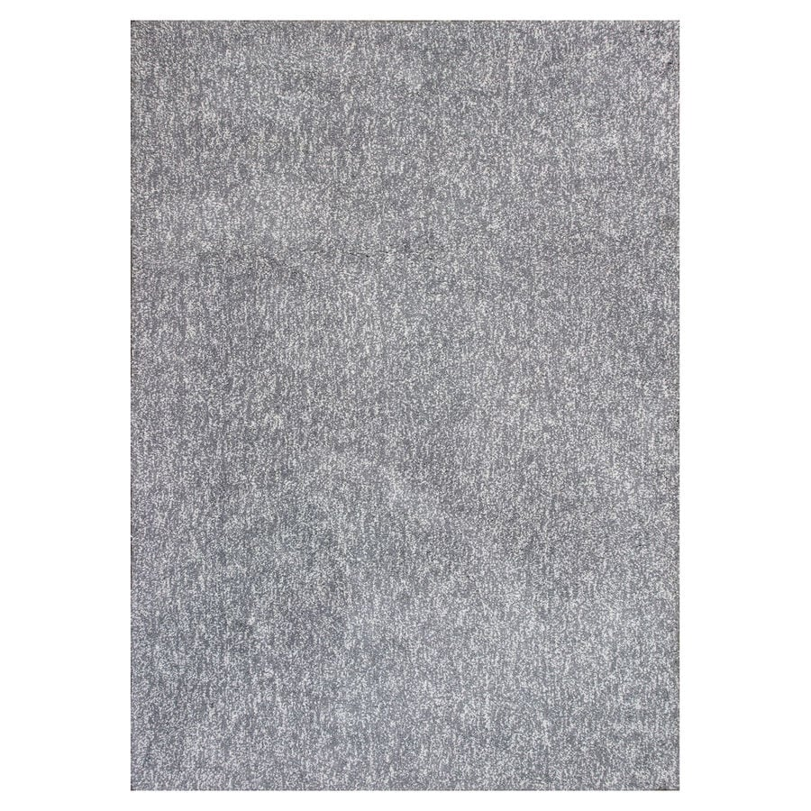 KAS Rugs Sofia Shag Gray/Ivory Rectangular Indoor Machine-Made Throw Rug (Common: 3 x 5; Actual: 3.25-ft W x 5.25-ft L)