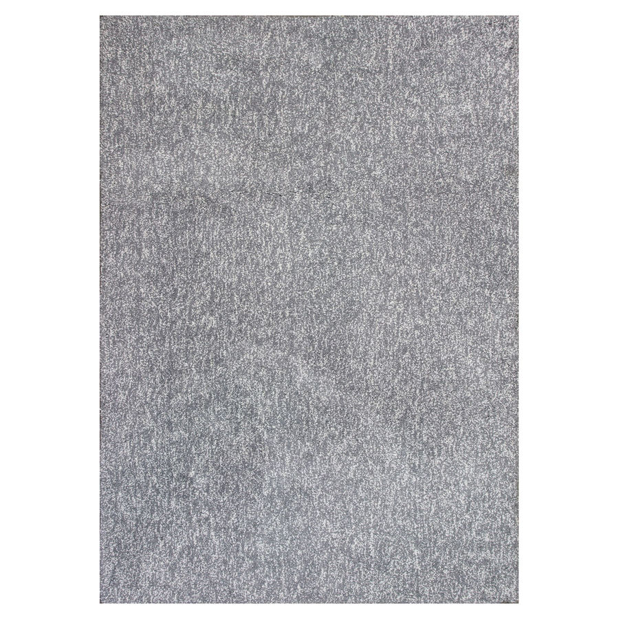 KAS Rugs Sofia Shag Gray/Ivory Rectangular Indoor Shag Throw Rug (Common: 3 x 5; Actual: 3.25-ft W x 5.25-ft L)