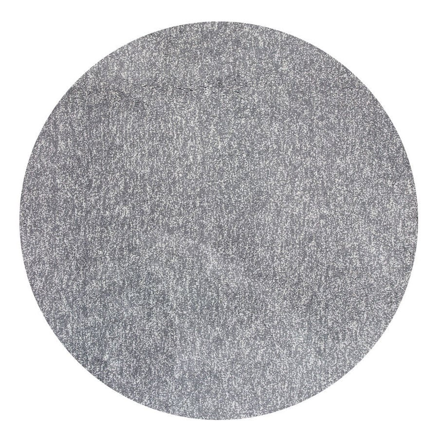 KAS Rugs Sofia Shag Gray/Ivory Round Indoor Shag Area Rug (Common: 8 x 8; Actual: 8-ft W x 8-ft L x 8-ft Dia)