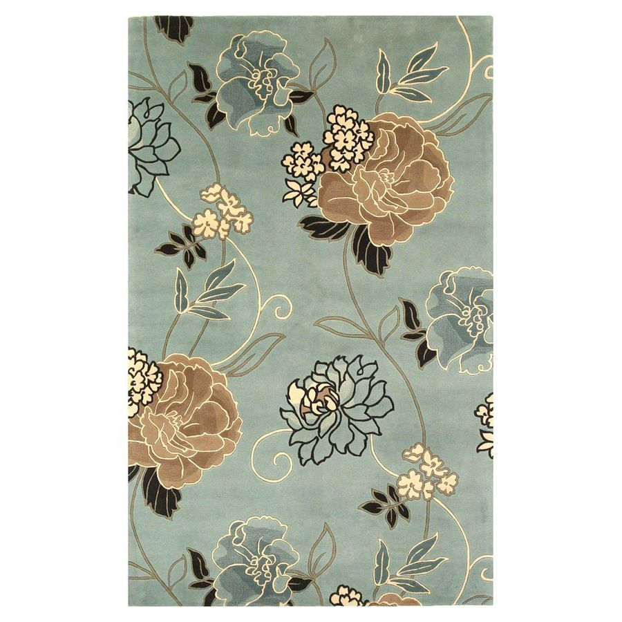 KAS Rugs Elegant Florals Rectangular Indoor Tufted Area Rug
