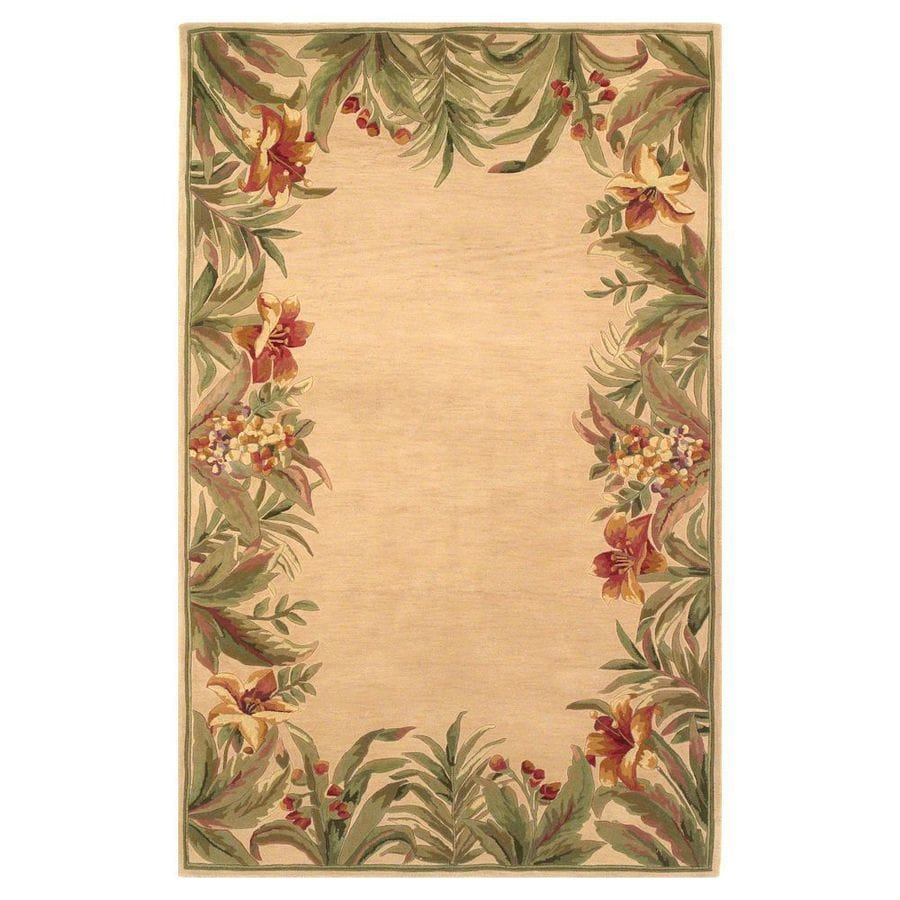 KAS Rugs Floral Trends Rectangular Indoor Tufted Area Rug (Common: 5 x 8; Actual: 63-in W x 99-in L)