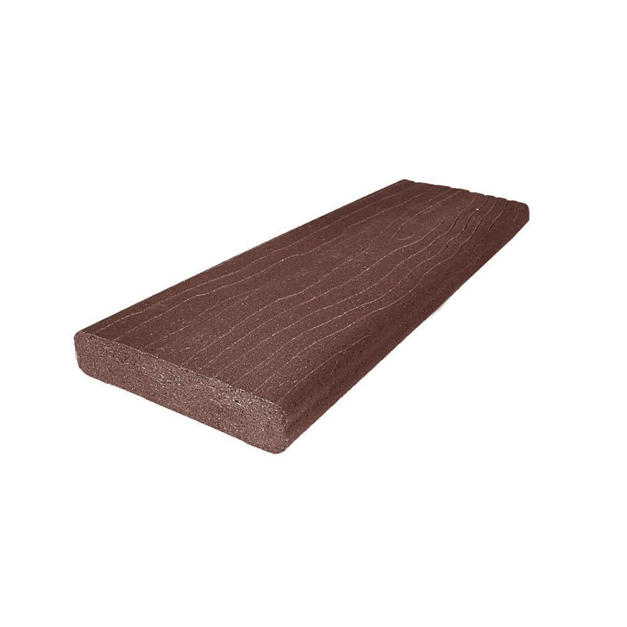 MoistureShield (Actual: 1.5-in x 3.5-in x 12-ft) Vantage Mahogany Composite Deck Board