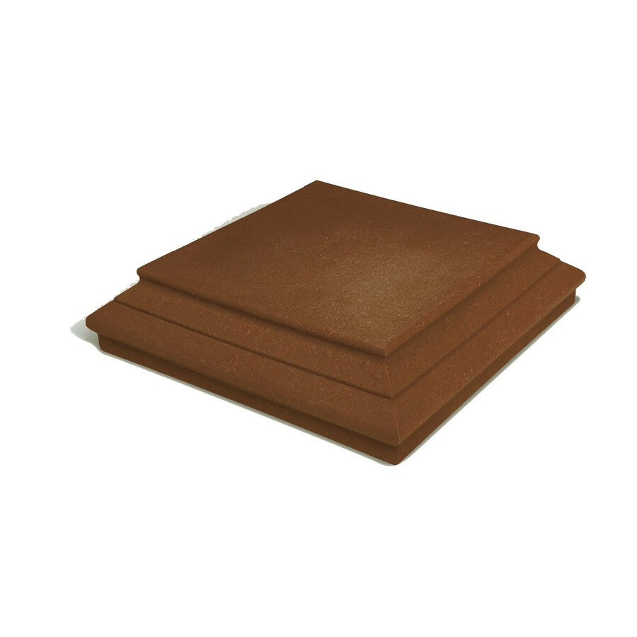 MoistureShield (Fits Common Post Measurement: 4-in X 4-in; Actual: 6-in x 6-in x 1.5-in) Walnut Composite Deck Post Cap
