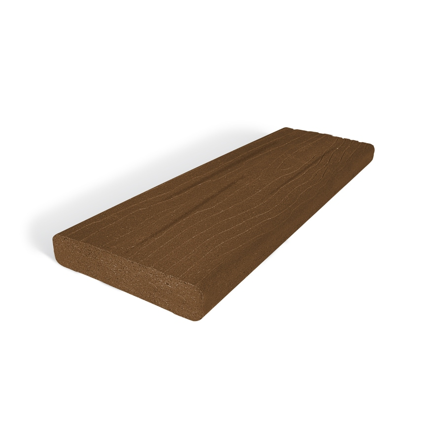 MoistureShield Vantage Walnut Composite Deck Board (Actual: 1.5-in x 3.5-in x 12-ft)