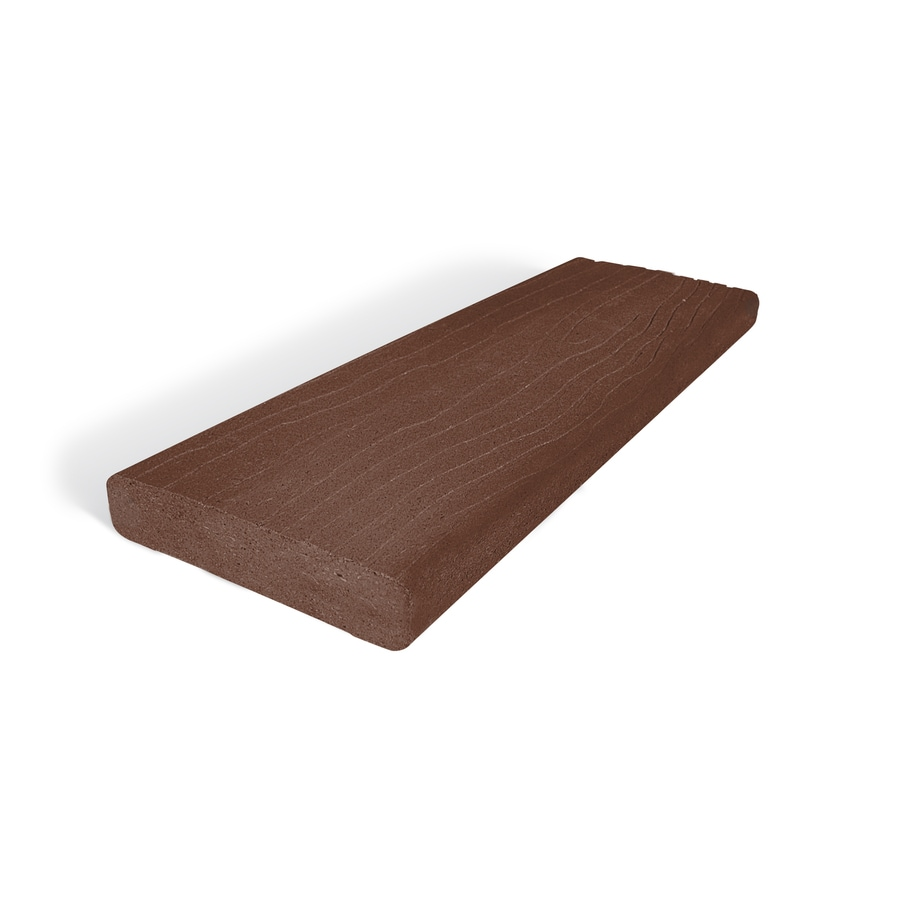 MoistureShield (Actual: 1-in x 5.4-in x 12-ft) Vantage Mahogany Composite Deck Board