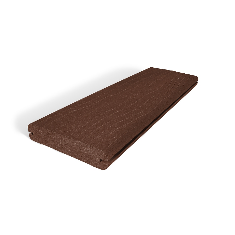 MoistureShield (Actual: 1-in x 5.4-in x 20-ft) Vantage Mahogany Grooved Composite Deck Board
