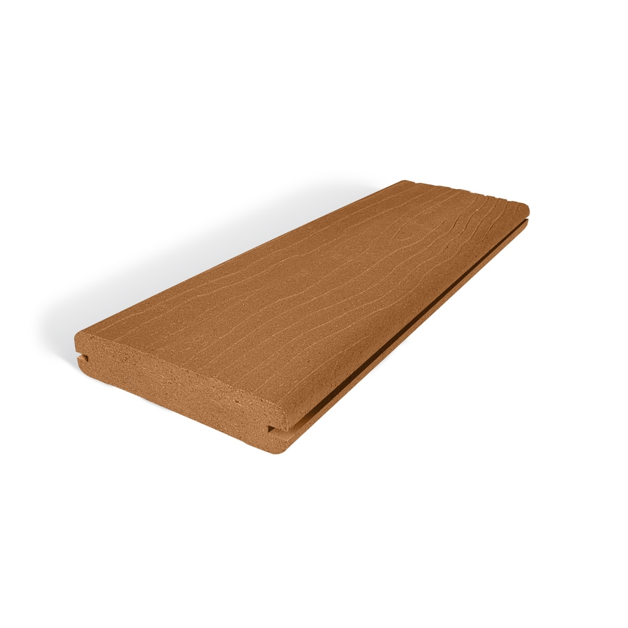 (Actual: 1-in x 5.4-in x 16-ft) Vantage Rustic Cedar Grooved Composite Deck Board