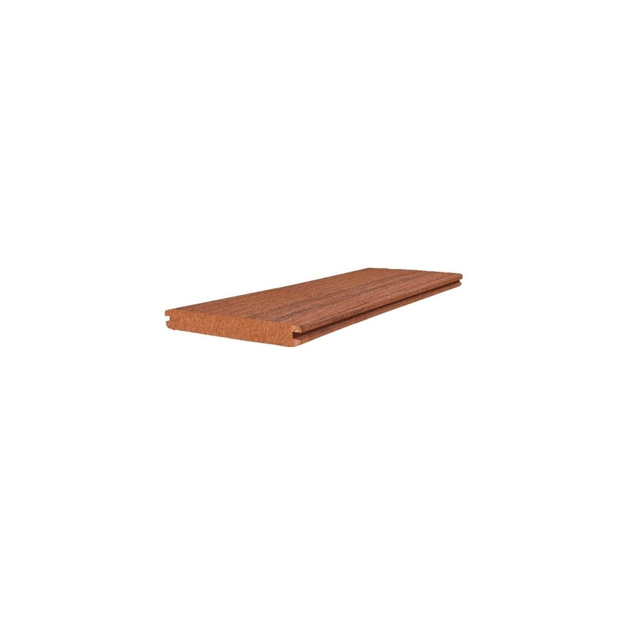 (Actual: 1-in x 5.4-in x 12-ft) Terra Cotta Grooved Composite Deck Board