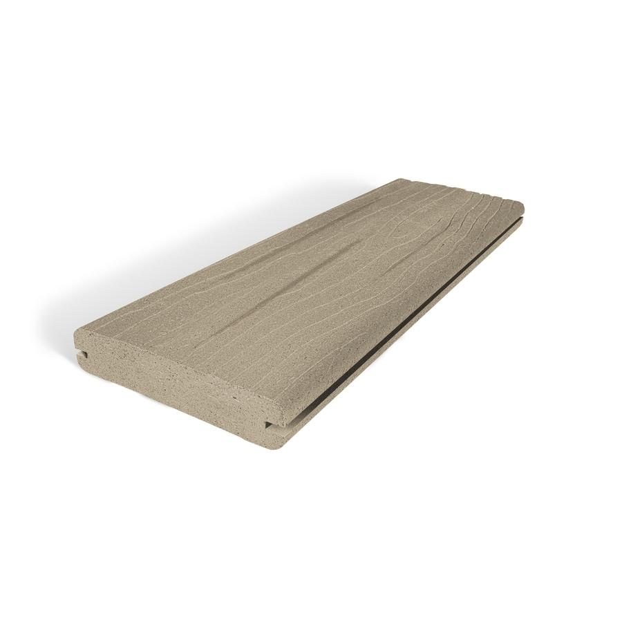 Vantage Desert Sand Groove Composite Deck Board (Actual: 1-in x 5.4-in x 12-ft)