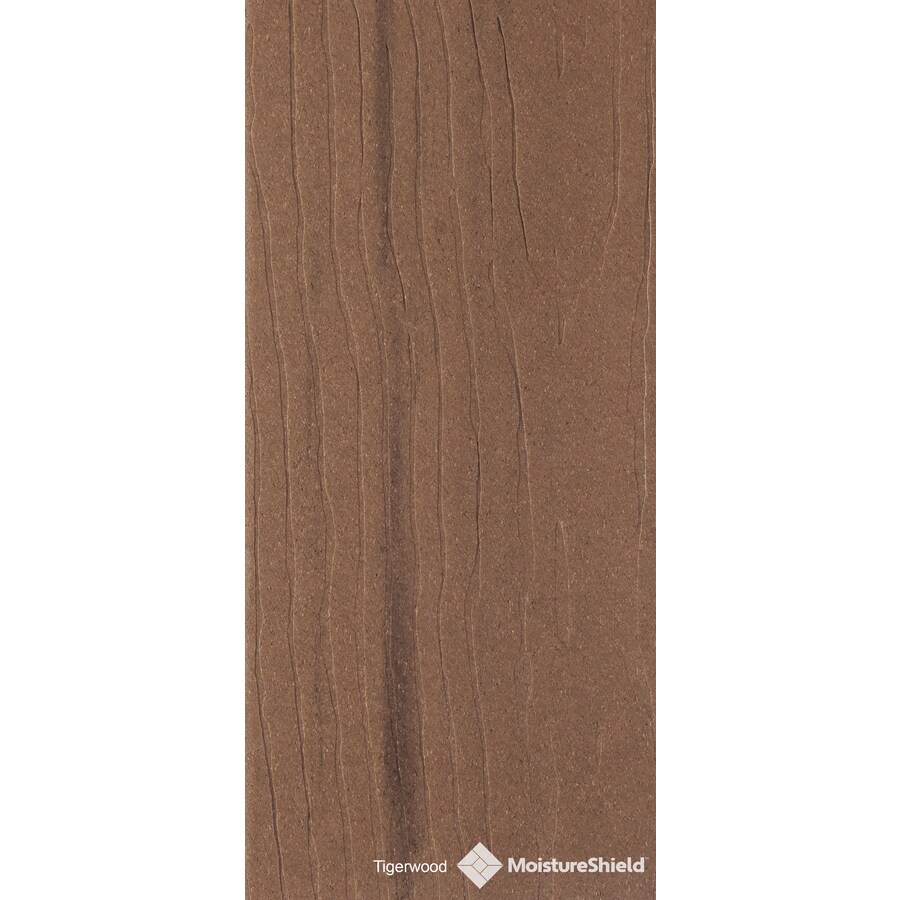 MoistureShield (Actual: 1-in x 5.4-in x 12-ft) Vantage Tigerwood Composite Deck Board