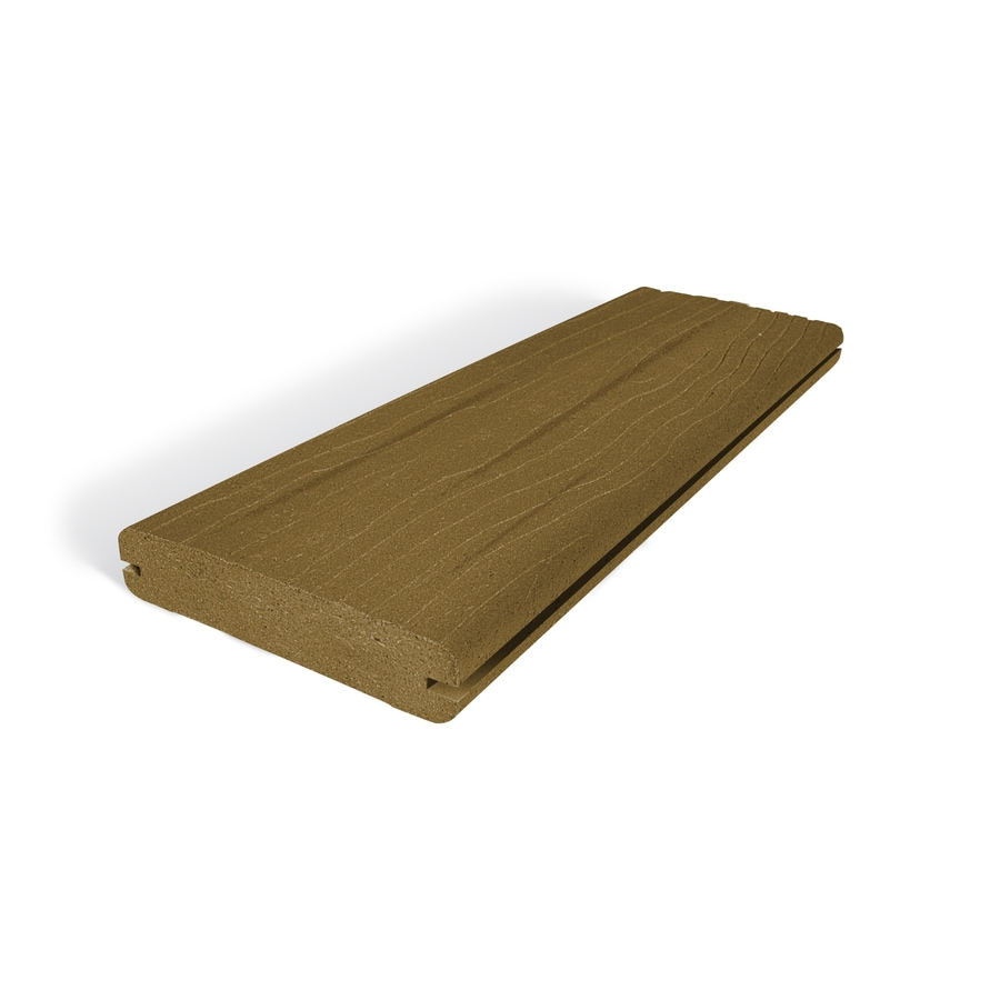 MoistureShield Vantage Tigerwood Groove Composite Deck Board (Actual: 1-in x 5.4-in x 12-ft)