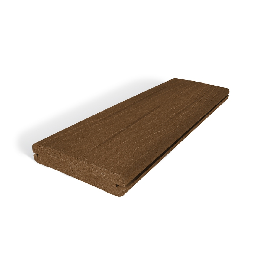 (Actual: 1-in x 5.4-in x 12-ft) Vantage Walnut Grooved Composite Deck Board